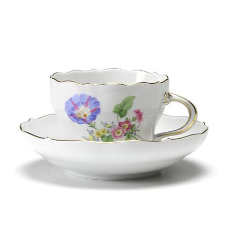 マイセン(Meissen) ベーシックフラワー(三つ花) 060110/00582/06 コーヒーカップ&ソーサー 200cc Motiv No.6 ヒルガオ